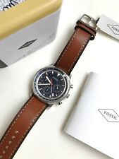 Fossil Watch * FS5414 Goodwin Chronograph Blue Dial Brown Leather Men COD PayPal