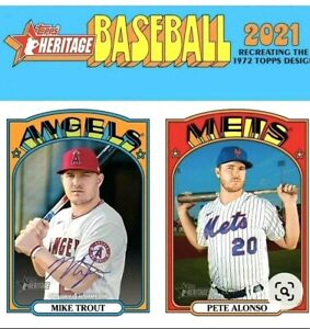 2021 TOPPS HERITAGE BASEBALL SINGLES - YOU PICK (1-250)