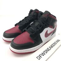 Nike Air Jordan 1 Mid PS Size 2Y/ Womens 3.5 Bred Toe Red Black White 554725-066