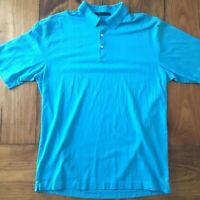 Nike Dri-Fit Tiger Woods Collection Mens Size Large Blue Golf Polo Shirt EUC