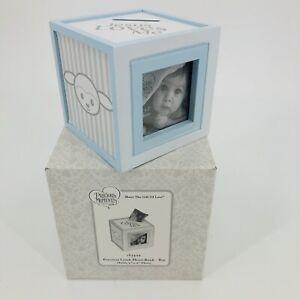 Precious Moments Lamb Photo Bank - Boy New In Box Baby Shower Gift Keepsake