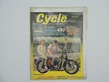 Nov 1965 Cycle Magazine BSA Honda 450 Ariel 1966 Harley Davidson Vespa L11067