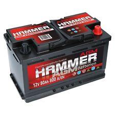 AGM Autobatterie 12V 80Ah 800A/EN Hammer AGM Start Stop Automatik