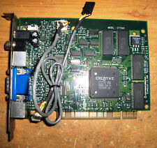 Creative Encore DXR3 CT7240 PCI DVD Video Decoder Board Card with audio cable