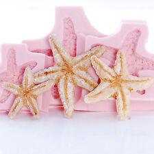 Starfish Seashell Silicone Mold Set Fondant Chocolate Resin Clay Soap Wax  (250