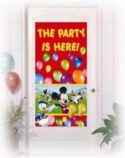 DISNEY MICKEY MOUSE - DOOR POSTER BANNER  - CHILDREN'S BIRTHDAY PARTY DECORATION