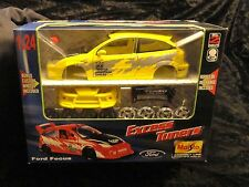 Maisto Assembly Line Excess Tuners Ford Focus model kit 1/24 Yellow