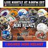 2020 GOLD RUSH AUTOGRAPHED FOOTBALL NFL NCAA MINI HELMET LIVE BOX BREAK #3824