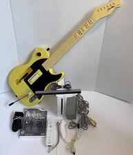 Nintendo Wii Console Rockband Guitar Bundle 1 Controller 1 Guitar and Rockband