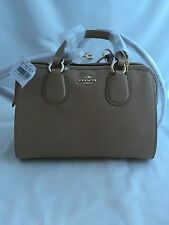 NWT COACH Nolita Satchel Crossgrain Leather Shoulder Bag Purse Stone