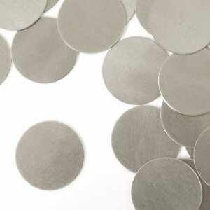 Stamping Blank Circle 1 Inch Metal Blanks Silver Aluminum Metal Stamping