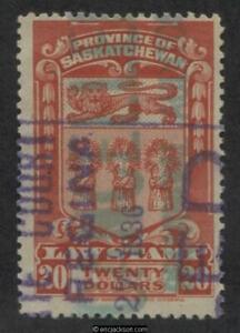Saskatchewan Law Stamp, SL44 used, F-VF