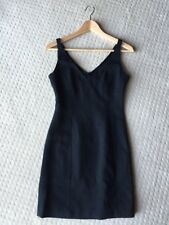 Stunning KAREN MILLEN Classic Little Black Mini Dress Sz 8 XS EUC