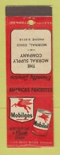 Matchbook Cover - Mobil oil gas Morral Supply Morral Oh