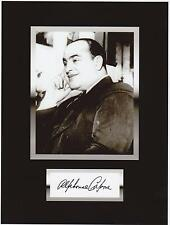 AL CAPONE  8 by 10 REPRINT PHOTO & REPRINT AUTOGRAPH ON GLOSSY PHOTO PAPER