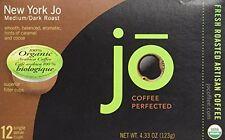 NEW YORK JO: 12 Cup Organic Medium Dark Roast for K-Cup Coffee Brewers, Keurig 1