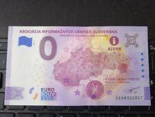 BILLET EURO SOUVENIR 2021-1 SLOVAQUIE ASOCIACIA INFORMACNYCH CENTIER SLOVENSKA