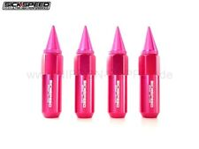 PINK SICKSPEED Lug Nuts 60/90mm spiked M12x1.25 Radmuttern 4er