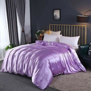 100% Mulberry Silk Standard Duvet Quilt Case Cover 25 Momme Silky Double Sides