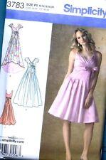 McCall's Pattern 3783 Party Prom Wedding Dress Size 12 14 16 18 20 - Uncut