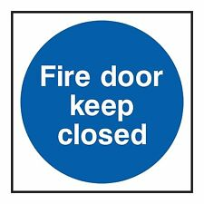 1x FIRE DOOR KEEP CLOSED Sticker Decal for Home Work Office Hotel Motel Box