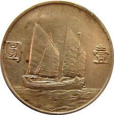 1 Dollar China 1933/34 Silber Sailing Ship Schiff