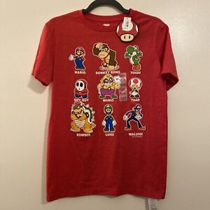 🎼Boys Red Super Mario Brothers Graphic T-Shirt From Old Navy, Size XL (14-16)