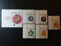 Yemen - 1996 -  Olympic Games Judo souvenir sheet & 4 Stamps - MNH