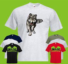 Cuerpo completo de Lobo para hombre Printed T-Shirt Animal Vida Silvestre
