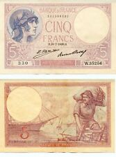 5 FRANCS ( VIOLET ) du 16-7-1928   W.35256  Numéro  881399330