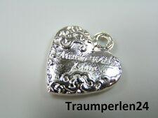 10 Anhänger Made with Love Metallanhänger silber Charm 20 mm *LOOK*
