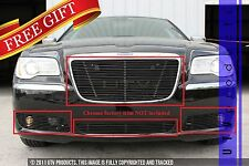GTG 2011 - 2014 Chrysler 300 and 300C 4PC Gloss Black Insert Billet Grille Kit