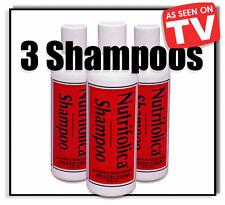 3 NUTRIFOLICA HAIR REGROWTH SHAMPOO stop loss thinning alopecia baldness regrow