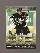 Sidney Crosby Rookie Upperdeck 2006 Phenomenal Beginings Card #12