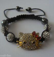 15aaa8c4b0ea17 Hello Kitty Shamballa White Czech Crystal Bracelet +Free pair of earrings