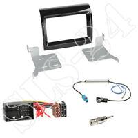 Fiat 500x ab2015 doble DIN 2-din radio diafragma FAKRA antena enchufe adaptador ISO