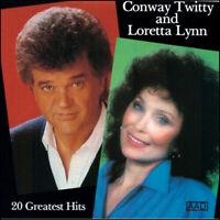 CONWAY TWITTY & LORETTA LYNN *  20 Greatest Hits   * All Original Songs * NEW CD