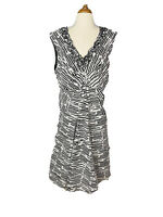 RB Collection New York Plus Size Women's Flare Dress Ruffled Neck line Size 16