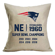 New England Patriots Established Design Couch Pillow