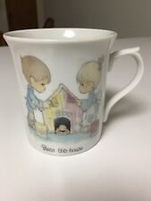1984 Precious Moments Bless This House Coffee Mug Cup Doghouse