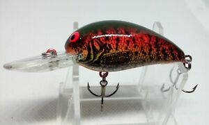 """BOMBER Model A 6A Green/Red Crappie 2 1/8"""" Diving Crankbait 1/4oz. Fishing lure"""
