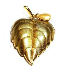 Avon Solid Perfume Pin Leaf with Faux Pearl Vintage