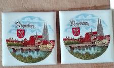 2St. Mosaik Fliese, REGENSBURG, Feinkeramik, Porzellanlasur, NEU, 5 x 5 cm