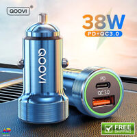 Car Phone Charger PD 20W USB Type C 38W 4.0QC 3.0QC Quick Charge Fast Charging
