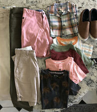 Lot Of 12 Boys Clothes Size 8-10 Pants, Shirts, Shorts, Shoes Complete Wardrobe!