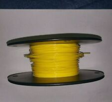 20 AWG Yellow Mil-Spec Wire Type E,  (PTFE) Stranded Silver Plated Copper, 25 ft