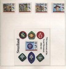 Swaziland 1982 75° Scoutismo serie cpl e BF nuova gomma integra MNH T605