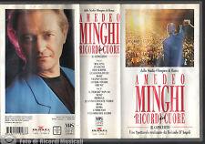 VHS AMEDEO MINGHI - I RICORDI DEL CUORE DALLO STADIO OLIMPICO DI ROMA (2 VHS)