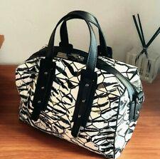 Patrizia Luca white black honeycomb handbag purse crossbody satchel mini duffle