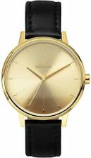 Nixon Kensington Leather Watch / Gold Plated / A105-501 / A108 501 / A108501